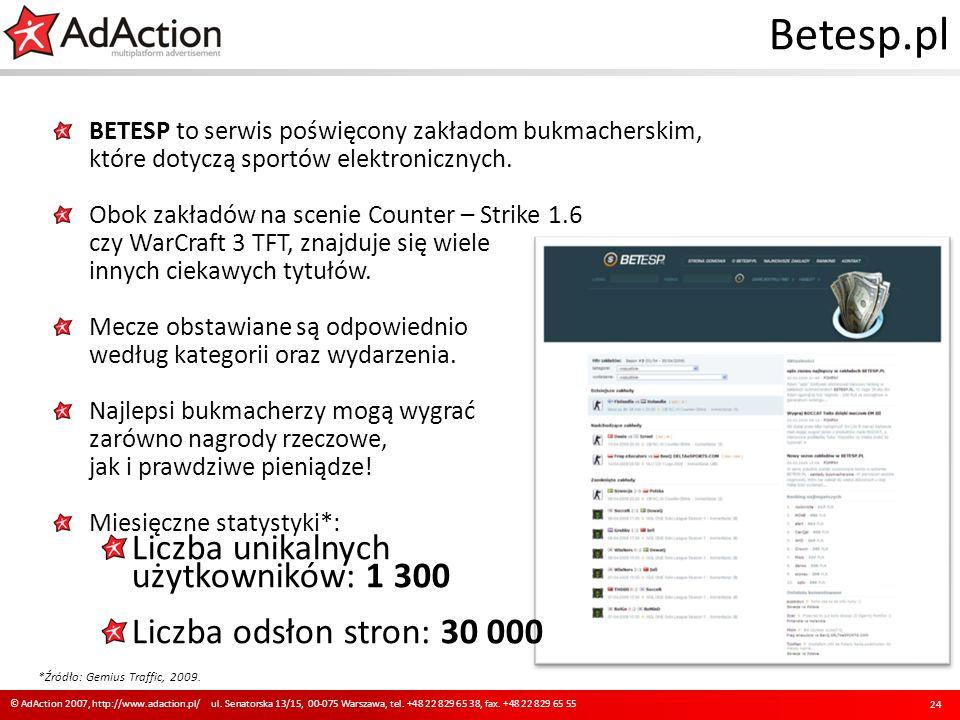 Betesp.pl BETESP to serwis poświęcony zakładom bukmacherskim, które dotyczą sportów elektronicznych. Obok zakładów na scenie Counter – Strike 1.6 czy