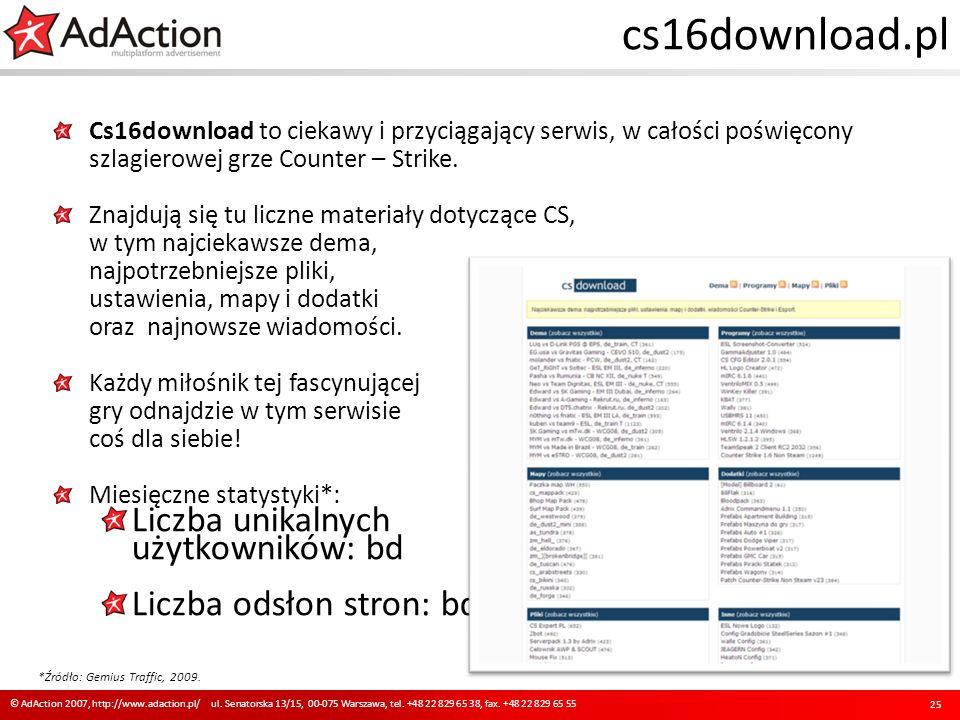 cs16download.pl Cs16download to ciekawy i przyciągający serwis, w całości poświęcony szlagierowej grze Counter – Strike. Znajdują się tu liczne materi