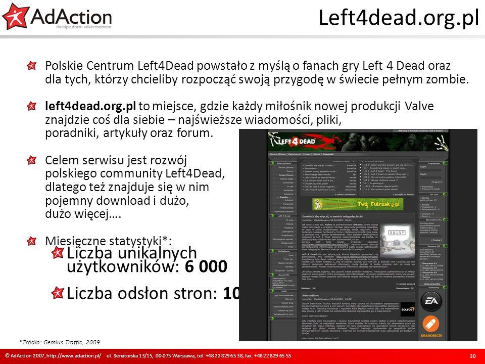 Left4dead.org.pl Polskie Centrum Left4Dead powstało z myślą o fanach gry Left 4 Dead oraz dla tych, którzy chcieliby rozpocząć swoją przygodę w świeci