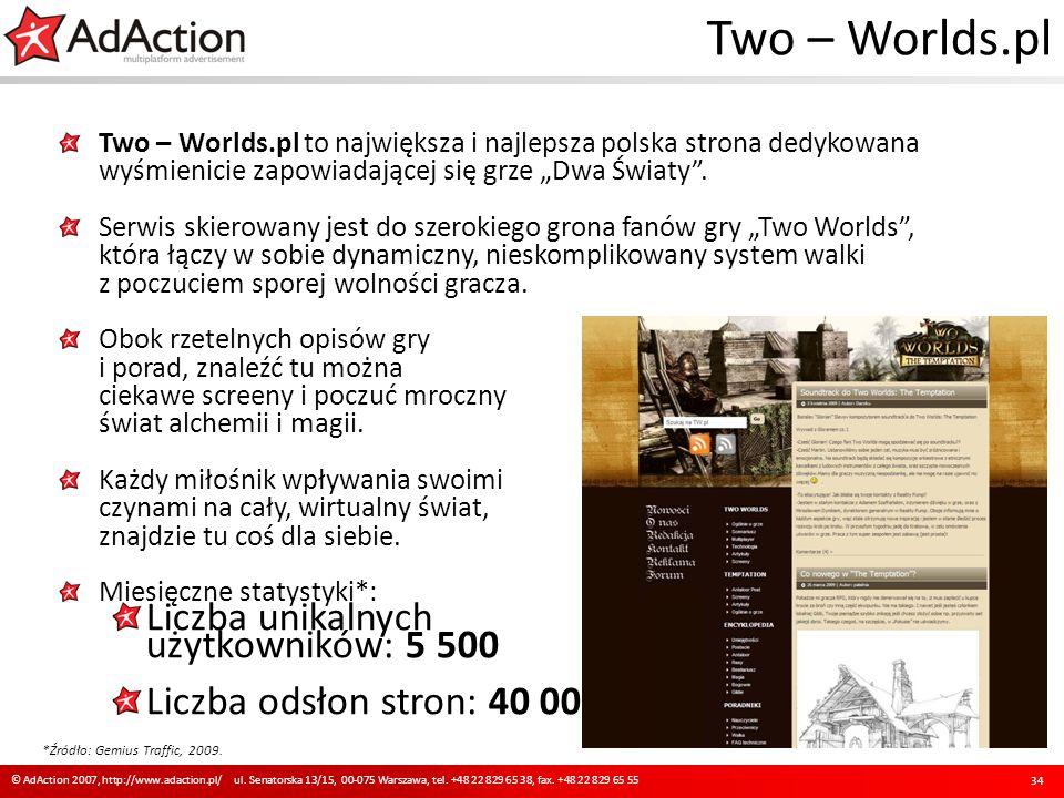 Two – Worlds.pl Two – Worlds.pl to największa i najlepsza polska strona dedykowana wyśmienicie zapowiadającej się grze Dwa Światy. Serwis skierowany j