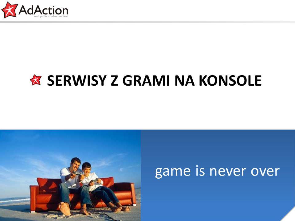 generujemy efekty game is never over SERWISY Z GRAMI NA KONSOLE