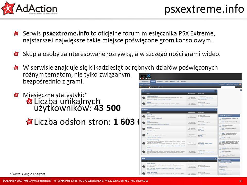 psxextreme.info Serwis psxextreme.info to oficjalne forum miesięcznika PSX Extreme, najstarsze i największe takie miejsce poświęcone grom konsolowym.