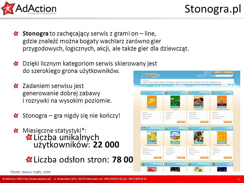 Stonogra.pl Stonogra to zachęcający serwis z grami on – line, gdzie znaleźć można bogaty wachlarz zarówno gier przygodowych, logicznych, akcji, ale ta