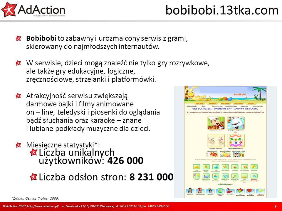 bobibobi.13tka.com Bobibobi to zabawny i urozmaicony serwis z grami, skierowany do najmłodszych internautów. W serwisie, dzieci mogą znaleźć nie tylko