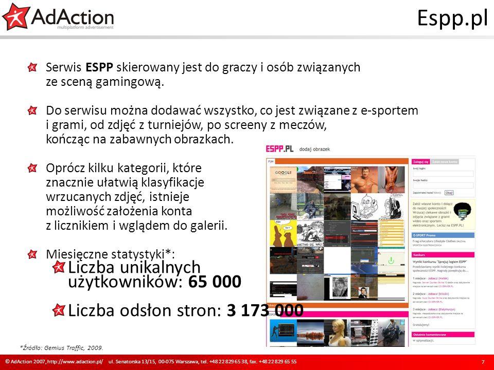 Espp.pl Serwis ESPP skierowany jest do graczy i osób związanych ze sceną gamingową. Do serwisu można dodawać wszystko, co jest związane z e-sportem i
