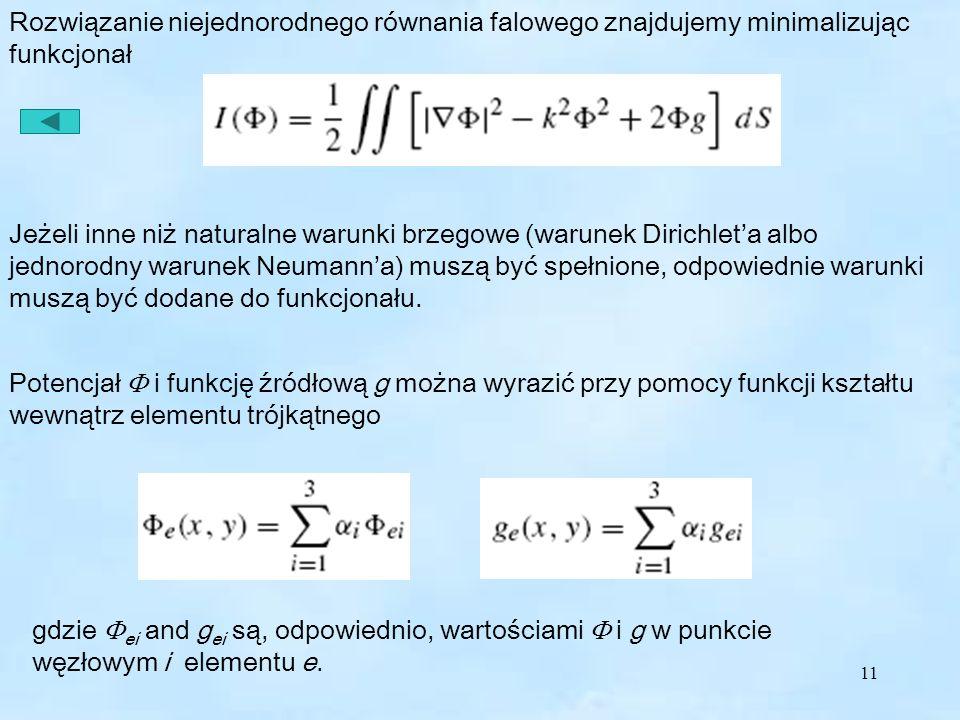 11 Jeżeli inne niż naturalne warunki brzegowe (warunek Dirichleta albo jednorodny warunek Neumanna) muszą być spełnione, odpowiednie warunki muszą być dodane do funkcjonału.