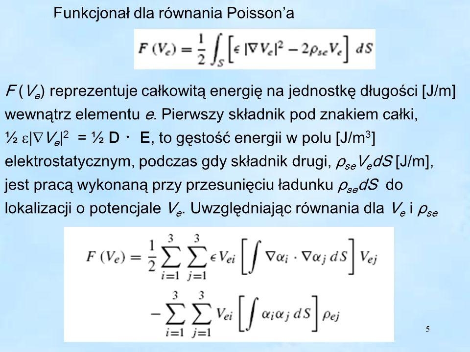 6 W postaci macierzowej gdzie: Postać macierzowa A – powierzchnia elementu trójkątnego.