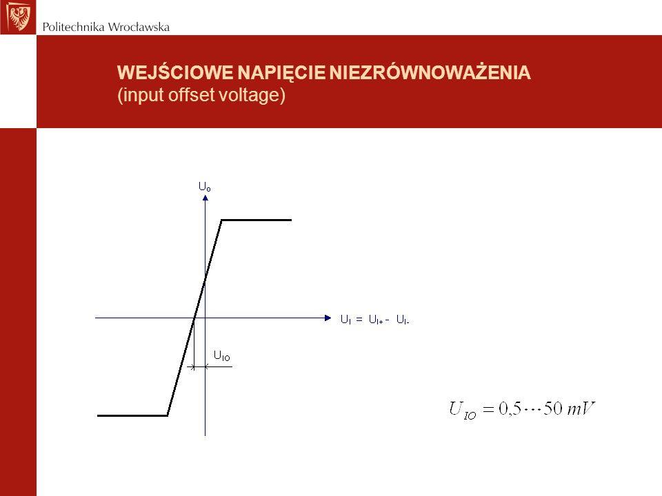 WEJŚCIOWE PRĄDY POLARYZUJĄCE (input bies current) WEJŚCIOWY PRĄD NIEZRÓWNOWAŻENIA (input offset current)