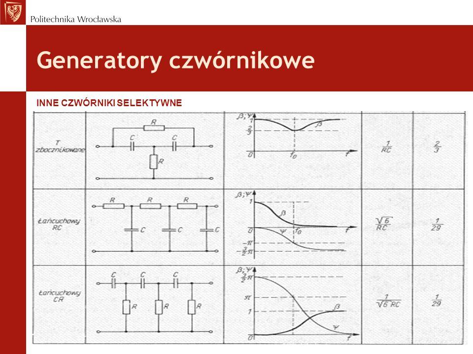 Generatory czwórnikowe INNE CZWÓRNIKI SELEKTYWNE