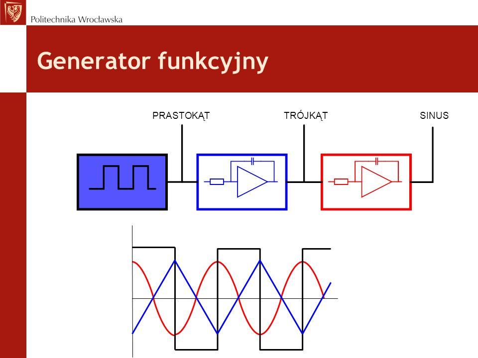 Generator funkcyjny PRASTOKĄTTRÓJKĄTSINUS