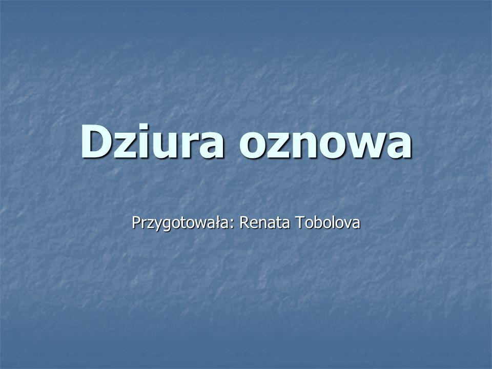 Dziura oznowa Przygotowała: Renata Tobolova
