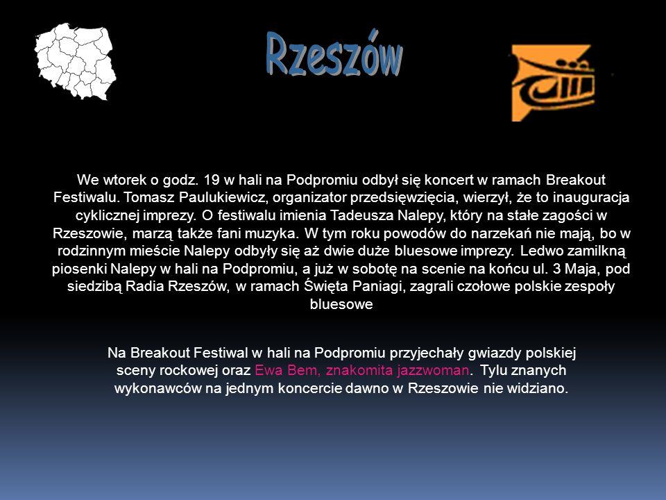 We wtorek o godz. 19 w hali na Podpromiu odbył się koncert w ramach Breakout Festiwalu. Tomasz Paulukiewicz, organizator przedsięwzięcia, wierzył, że