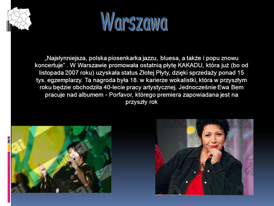 Najsłynniejsza, polska piosenkarka jazzu, bluesa, a także i popu znowu koncertuje. W Warszawie promowała ostatnią płytę KAKADU, która już (bo od listo