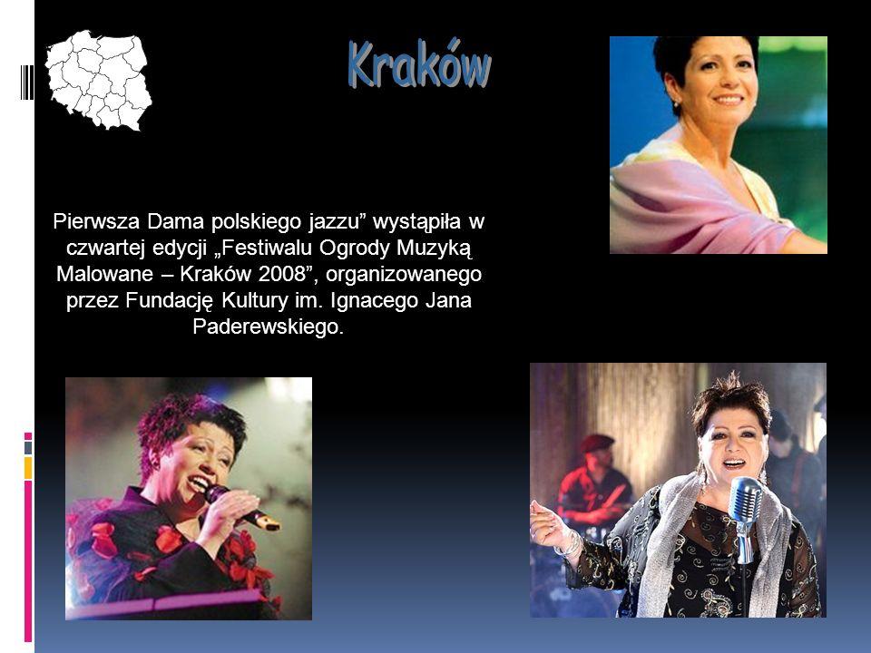 Pierwsza Dama polskiego jazzu wystąpiła w czwartej edycji Festiwalu Ogrody Muzyką Malowane – Kraków 2008, organizowanego przez Fundację Kultury im. Ig