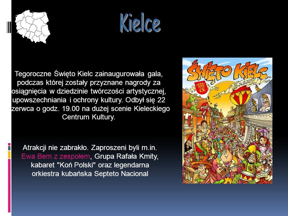 Tegoroczne Święto Kielc zainaugurowała gala, podczas której zostały przyznane nagrody za osiągnięcia w dziedzinie twórczości artystycznej, upowszechni