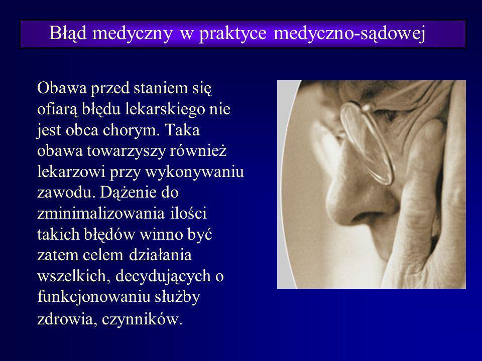 Błąd medyczny w praktyce medyczno-sądowej Definicja błędu lekarskiego – medycznego proponowana przez prof. dr hab. Bolesława Popielskiego:Błędem lekar