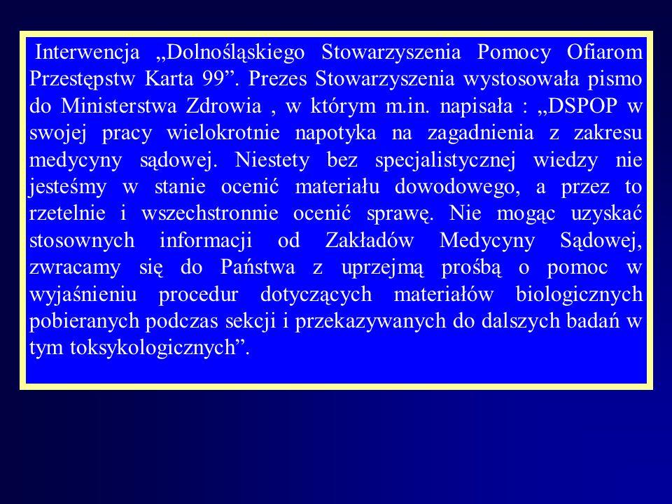 Interwencja Dolnośląskiego Stowarzyszenia Pomocy Ofiarom Przestępstw Karta 99.
