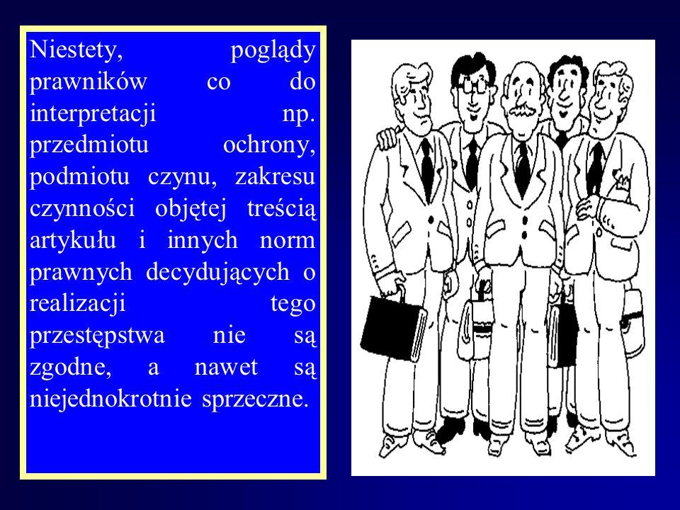 Na tak przygotowanym gruncie, w nowym kodeksie karnym ukazał się w rozdziale XXIII – Przestępstwa przeciwko wolności -art. 192 w brzmieniu: Art. 192 k