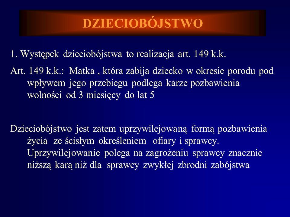 Barbara KATEDRA MEDYCYNY SĄDOWEJ A.M. WE WROCŁAWIU ZAKŁAD PRAWA MEDYCZNEGO Prof. dr hab. Barbara Świątek PRAWO MEDYCZNE Dzieciobójstwo.