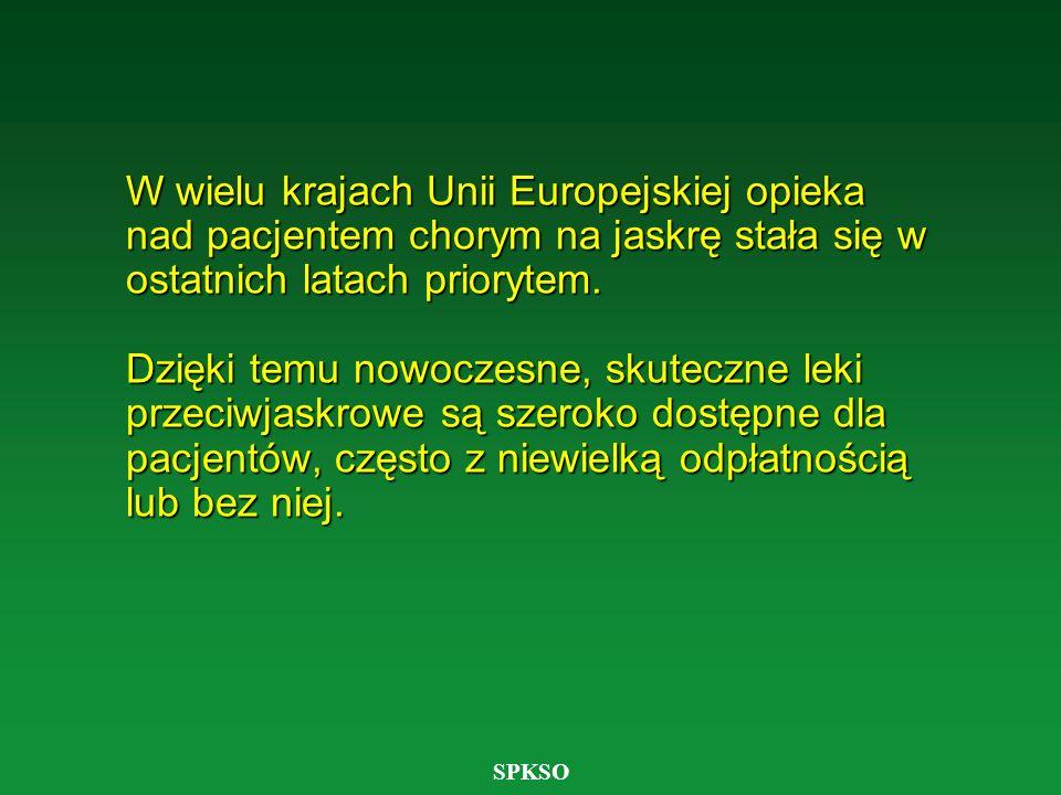 SPKSO W wielu krajach Unii Europejskiej opieka nad pacjentem chorym na jaskrę stała się w ostatnich latach priorytem. Dzięki temu nowoczesne, skuteczn