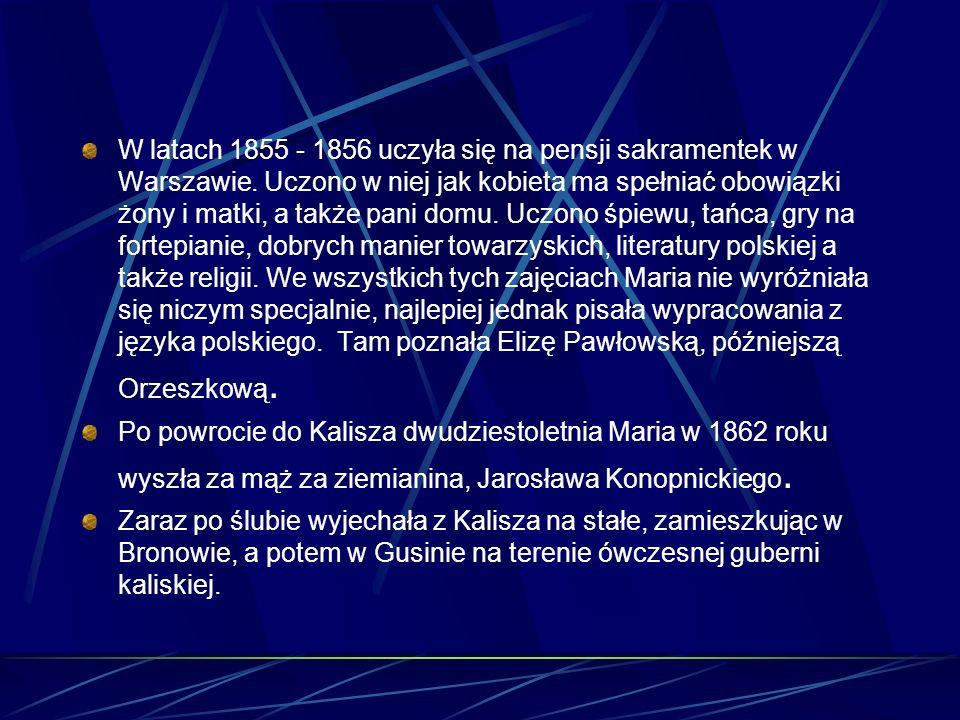 Życiorys Urodziła się 23 maja 1842 roku w Suwałkach, jako córka Józefa Wasiłowskiego, prawnika, patrona trybunału cywilnego i Scholastyki z Turskich,