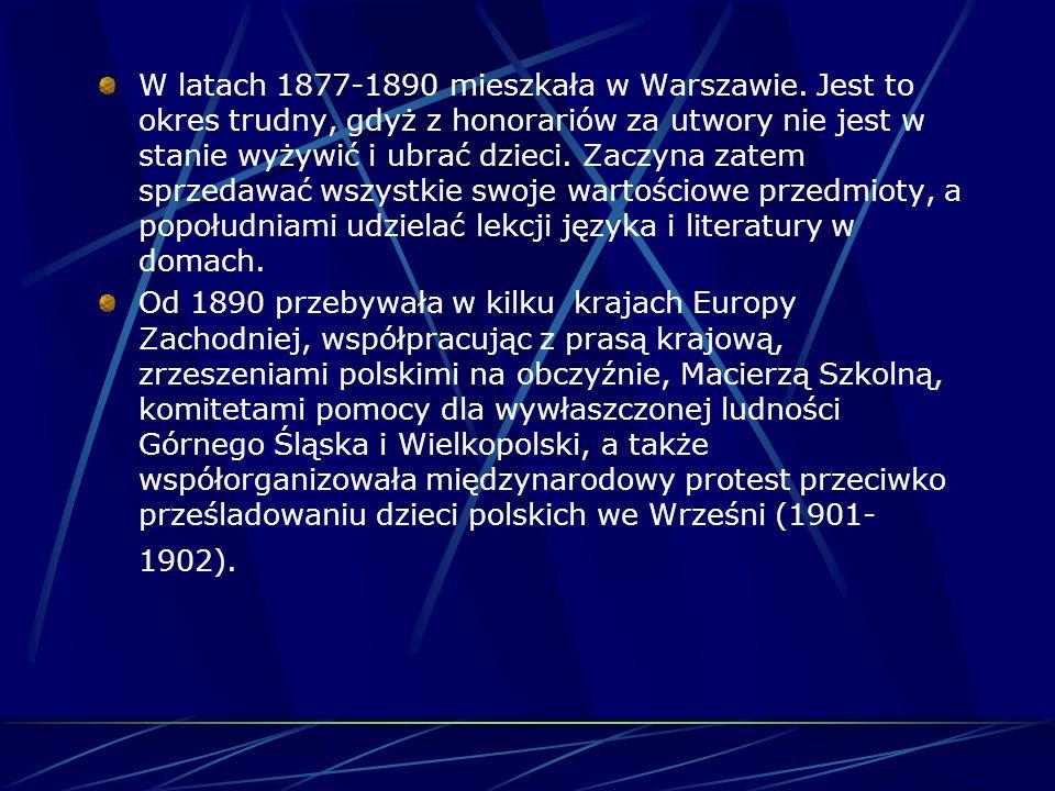 Wychowywała 6 dzieci (Tadeusz, Stanisław, Zofia, Helena, Jan i Laura) utrzymując się z dochodów niewielkiego dzierżawionego folwarku. Ciężkie życie pe