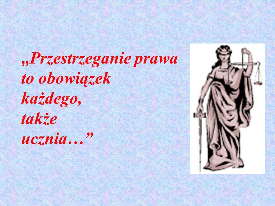 Przestrzeganie prawa to obowiązek każdego, także ucznia…