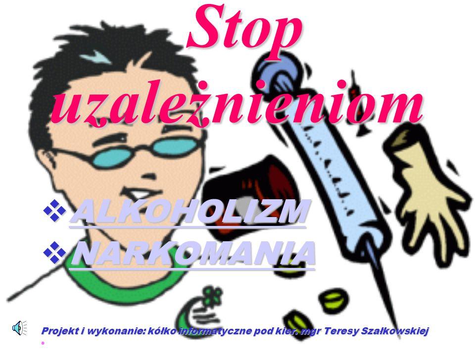 SKUTKI Przerwanie zażywania narkotyków powoduje tzw.