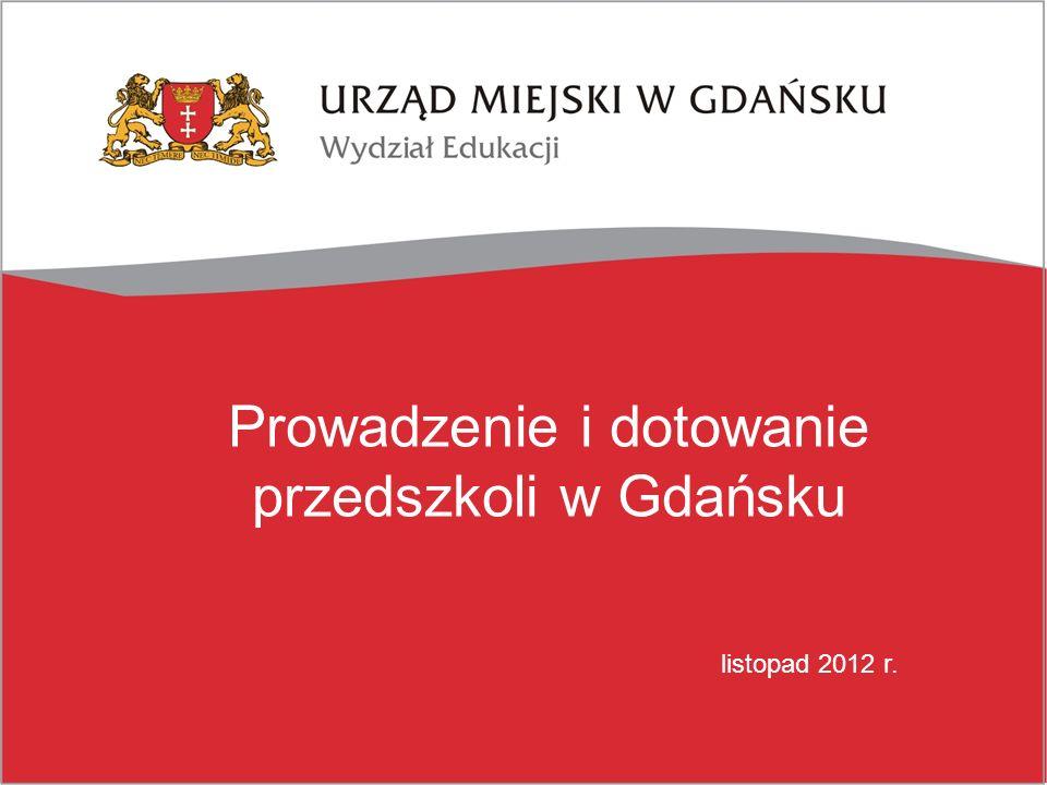 Prowadzenie i dotowanie przedszkoli w Gdańsku listopad 2012 r.