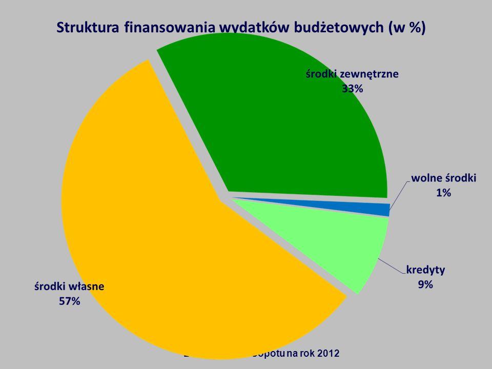 Struktura finansowania wydatków budżetowych (w %)