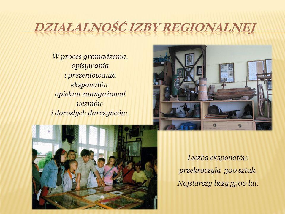 W proces gromadzenia, opisywania i prezentowania eksponatów opiekun zaangażował uczniów i dorosłych darczyńców. Liczba eksponatów przekroczyła 300 szt