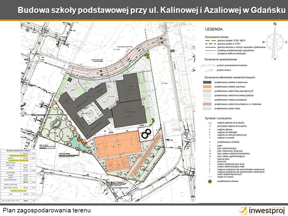 Budowa szkoły podstawowej przy ul. Kalinowej i Azaliowej w Gdańsku Plan zagospodarowania terenu