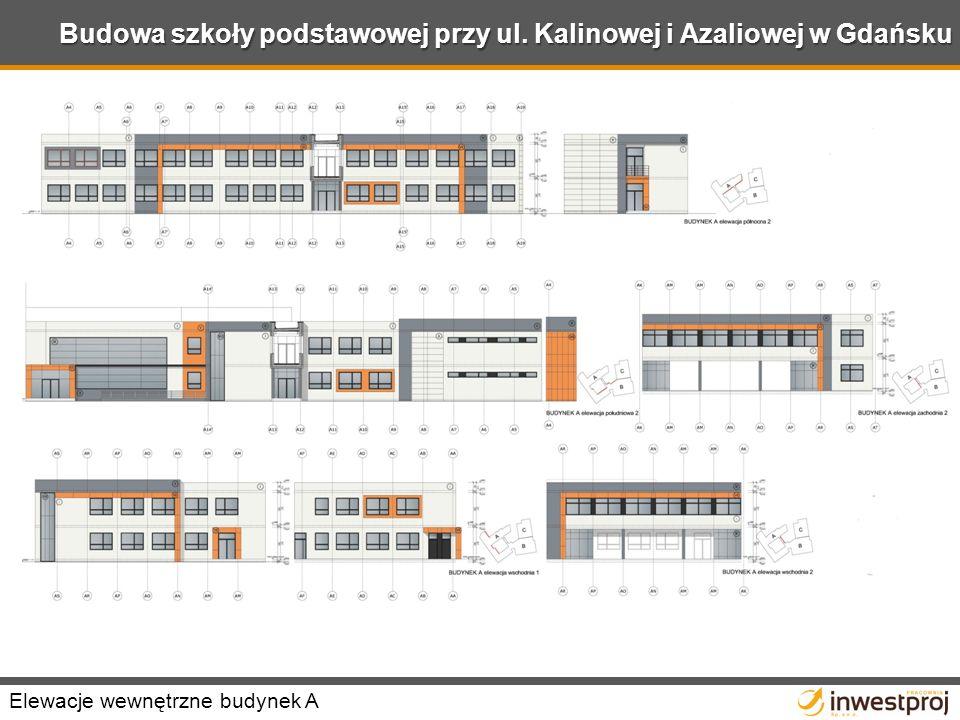 Budowa szkoły podstawowej przy ul. Kalinowej i Azaliowej w Gdańsku Elewacje wewnętrzne budynek A