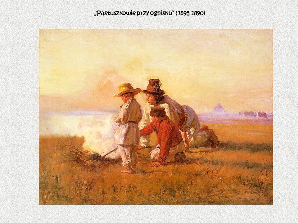 Pastuszkowie przy ognisku (1895-1890)