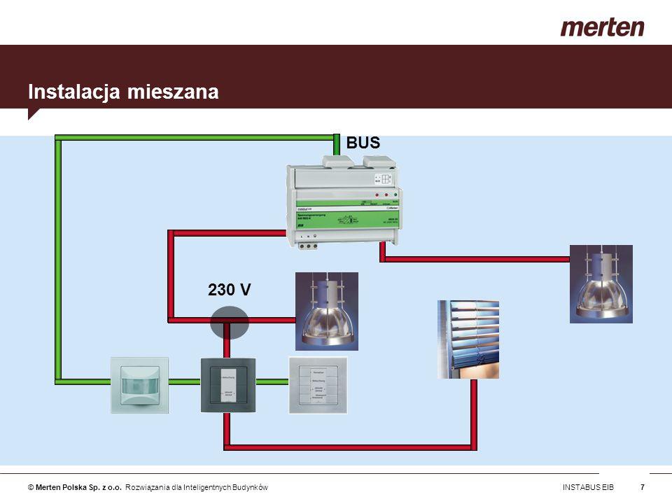 © Merten Polska Sp. z o.o. Rozwiązania dla Inteligentnych Budynków INSTABUS EIB7 Instalacja mieszana BUS 230 V