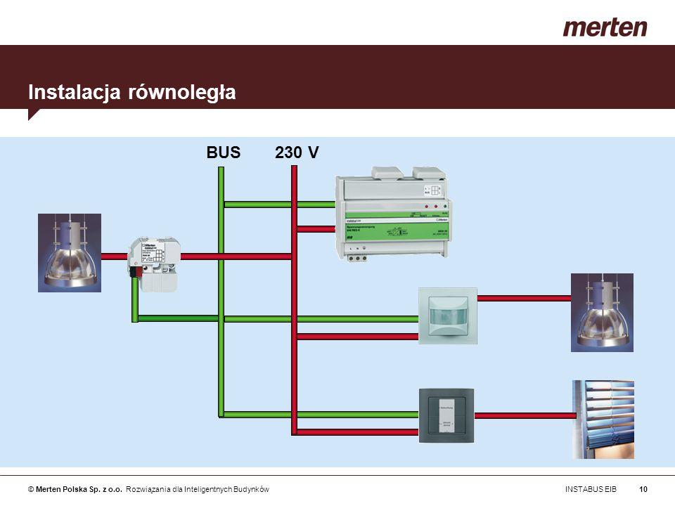 © Merten Polska Sp. z o.o. Rozwiązania dla Inteligentnych Budynków INSTABUS EIB10 Instalacja równoległa BUS 230 V
