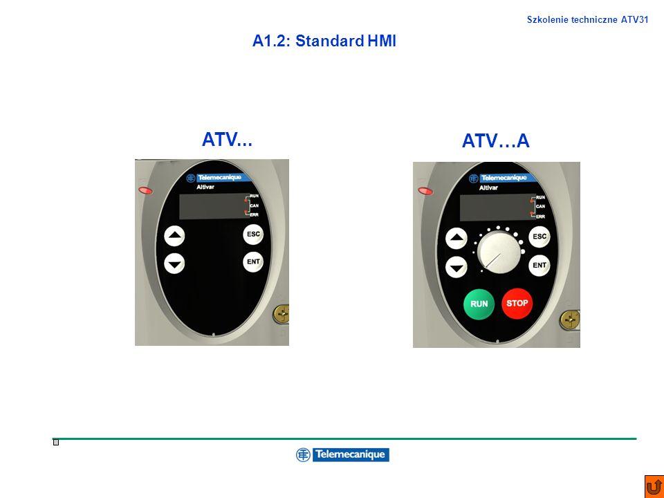 Szkolenie techniczne ATV31 A1.2: Standard HMI ATV... ATV…A