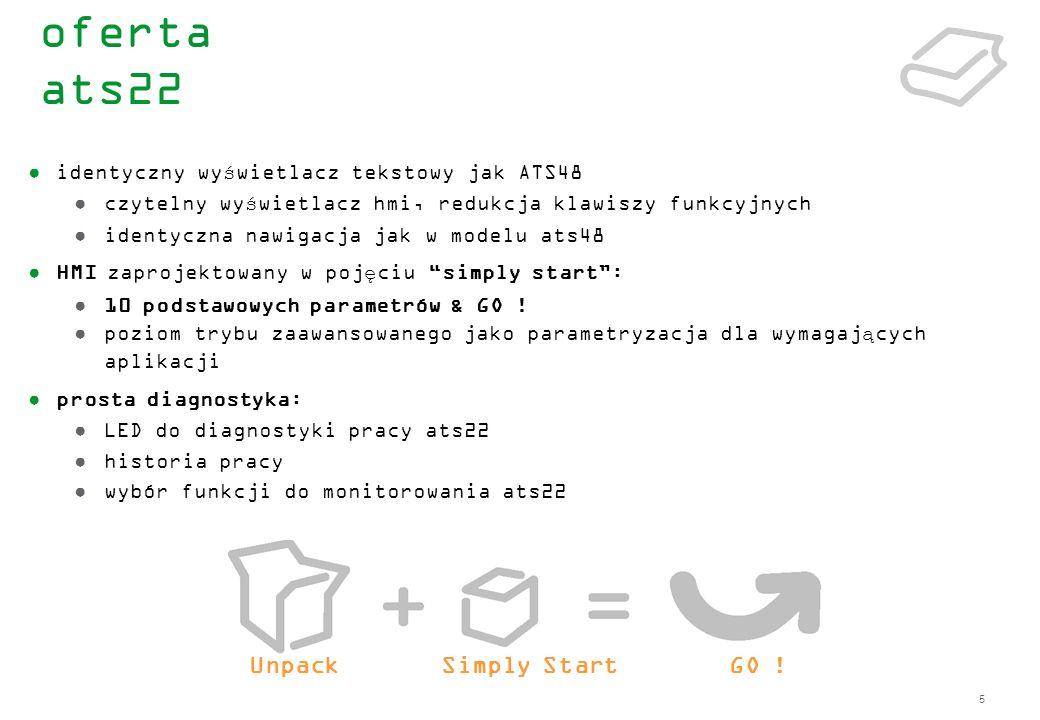 46 Status Menu : oferta ats22 interfejs hmi – lista parametrów
