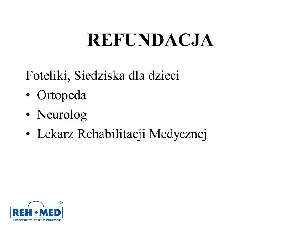 REFUNDACJA Foteliki, Siedziska dla dzieci Ortopeda Neurolog Lekarz Rehabilitacji Medycznej