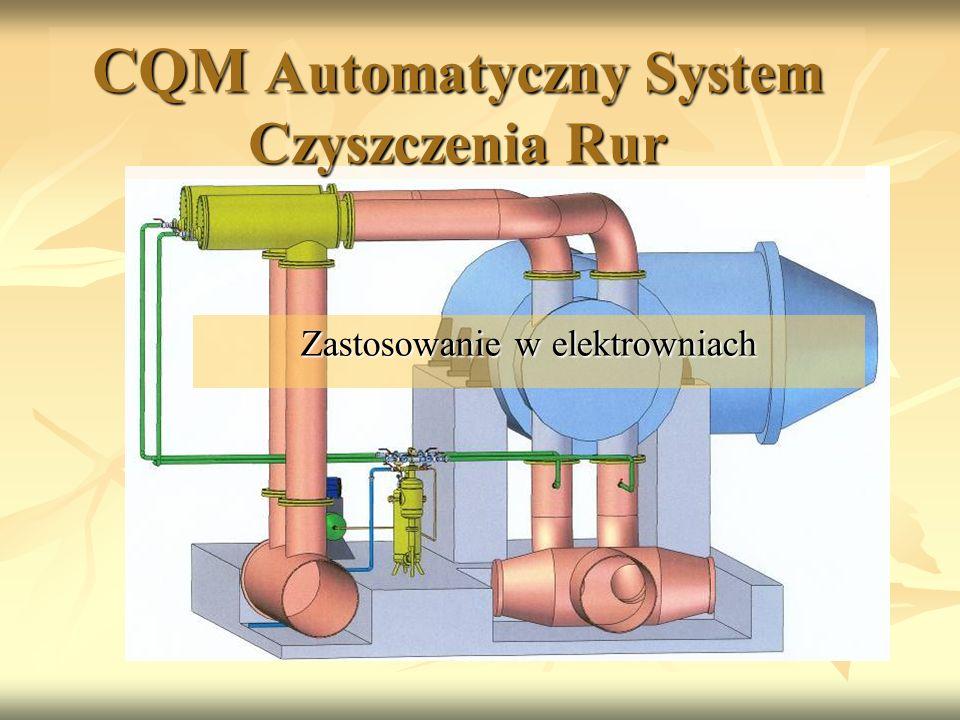 CQM Automatyczny System Czyszczenia Rur Zastosowanie w elektrowniach