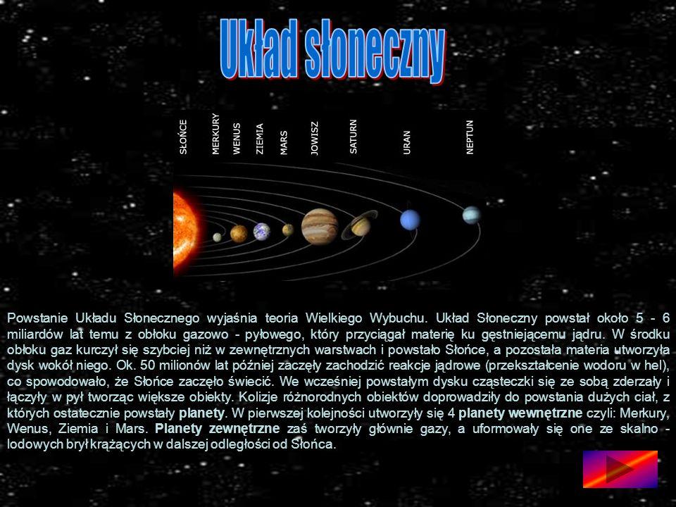 Powstanie Układu Słonecznego wyjaśnia teoria Wielkiego Wybuchu.