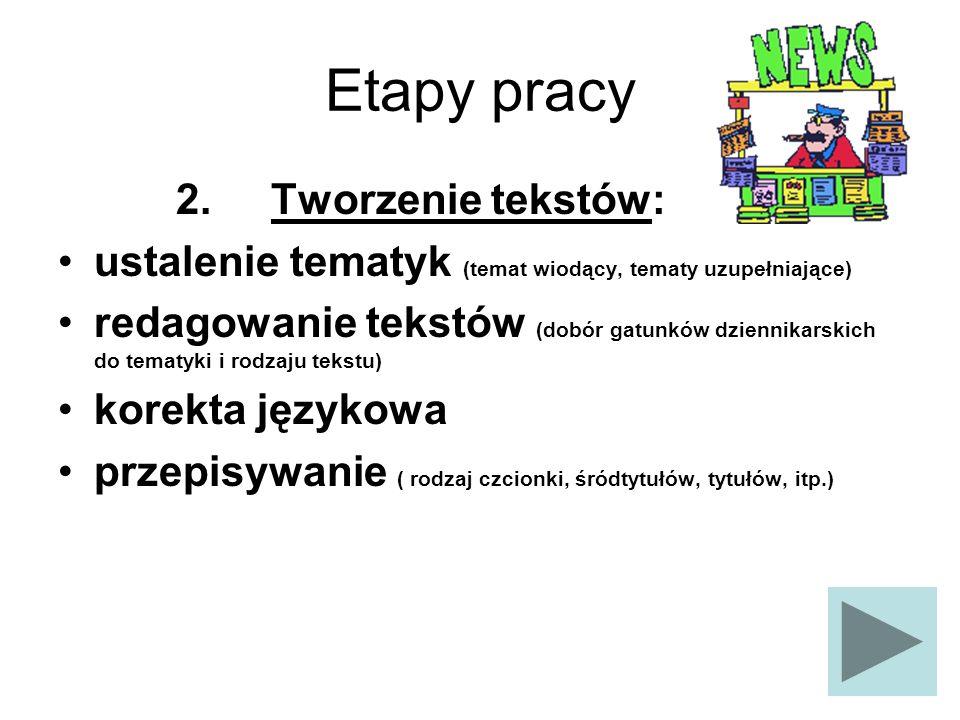 Etapy pracy 3.