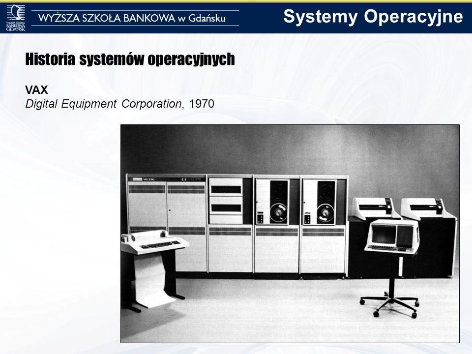 Historia systemów operacyjnych VAX Digital Equipment Corporation, 1970 Systemy Operacyjne