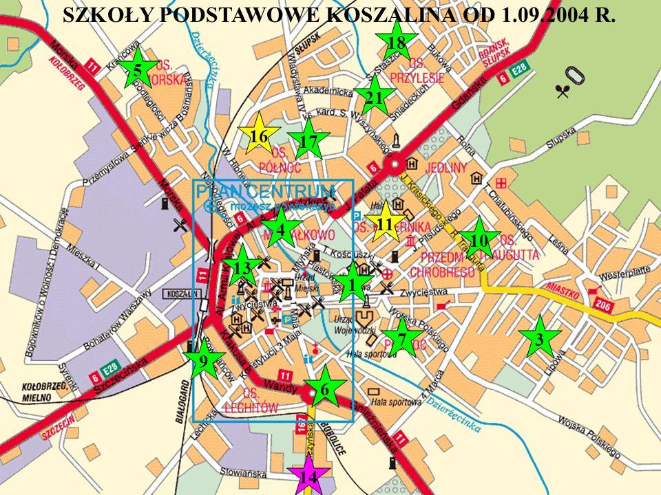 1. SP Nr 4 ul. Podgórna 46 2. SP Nr 5ul. Franciszkańska 102 3.
