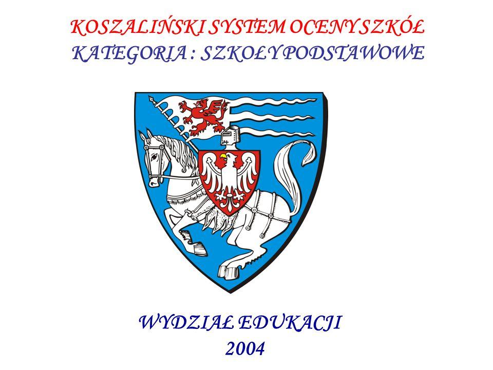 KOSZALIŃSKI SYSTEM OCENY SZKÓŁ KATEGORIA : SZKOŁY PODSTAWOWE WYDZIAŁ EDUKACJI 2004