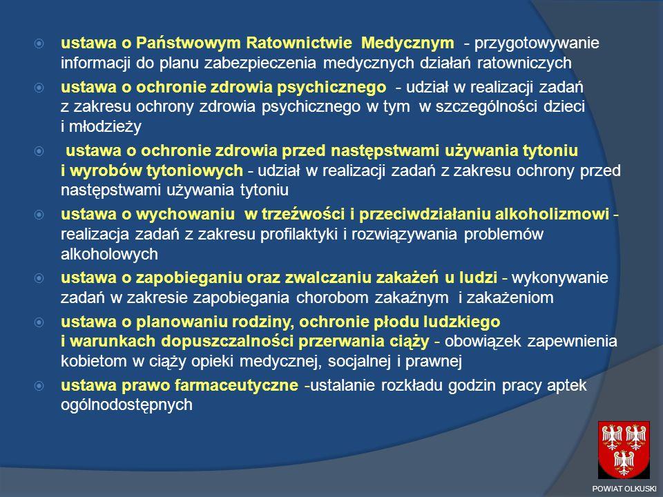 ustawa o Państwowym Ratownictwie Medycznym - przygotowywanie informacji do planu zabezpieczenia medycznych działań ratowniczych ustawa o ochronie zdro