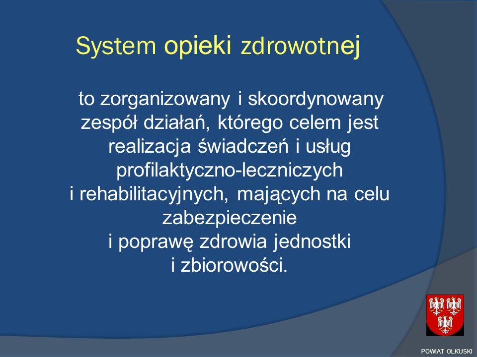 System opieki zdrowotn ej to zorganizowany i skoordynowany zespół działań, którego celem jest realizacja świadczeń i usług profilaktyczno-leczniczych