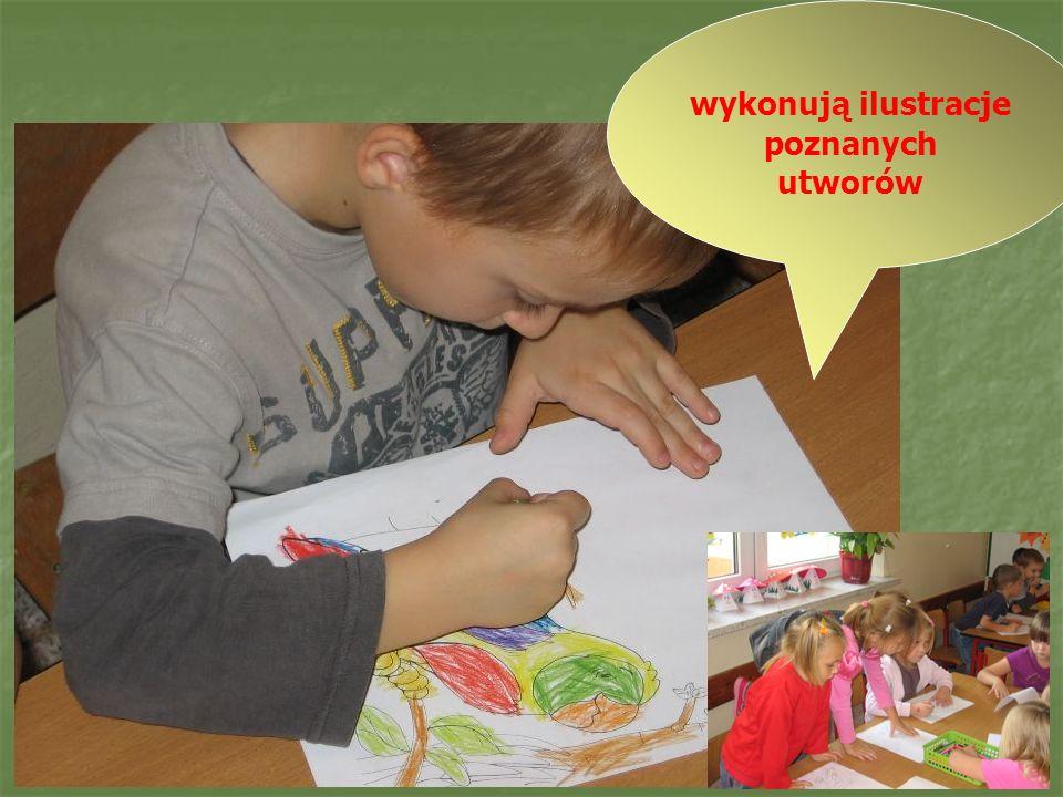 Prace młodszych i starszych uczniów