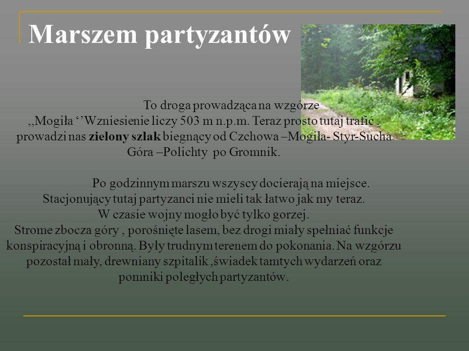 Tutaj, w szałasie używanym dotąd przez leśników, zorganizowano prowizoryczny szpital partyzancki zwany szpitalikiem leśnym.