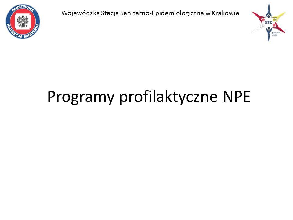 Programy profilaktyczne NPE Wojewódzka Stacja Sanitarno-Epidemiologiczna w Krakowie